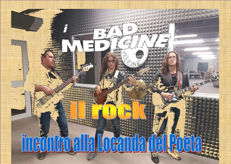 L'incontro del rock alla Locanda del Poeta, conviviale con i Bad Medicine in flash concerto