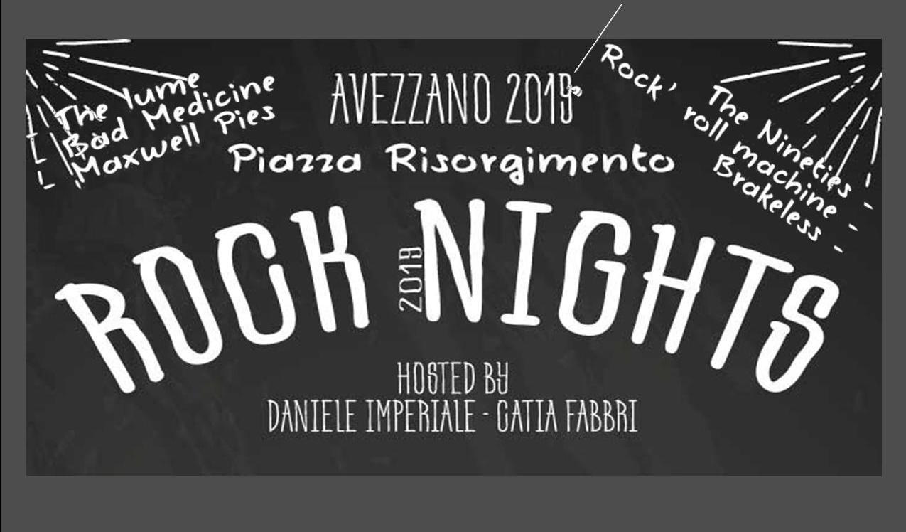 In arrivo ad Avezzano la prima edizione del Rock Nights 2019 con serate di spettacolo e musica in piazza Risorgimento